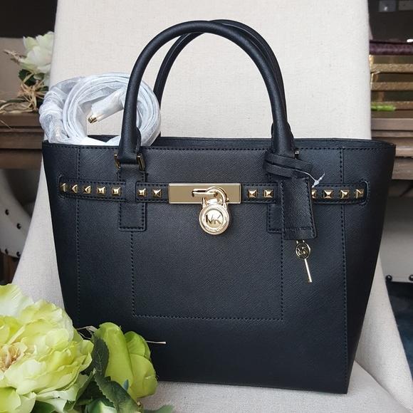 1ab0c851f3e7 Michael Kors Bags | Lg Hamilton Traveler Studded Tote Bag | Poshmark
